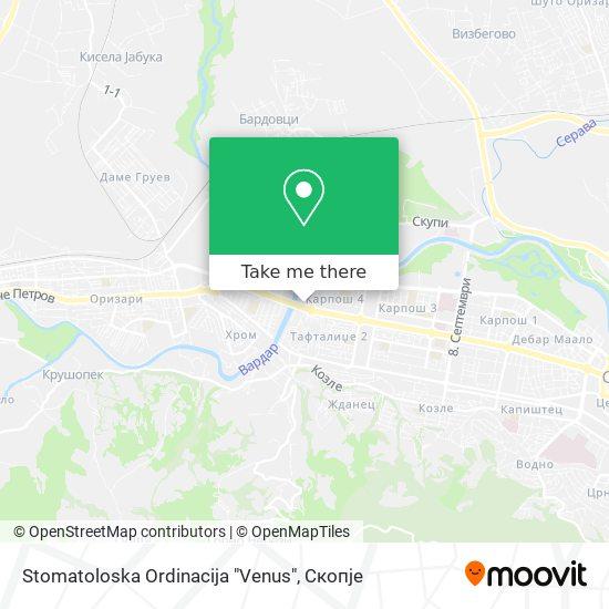 """Stomatoloska Ordinacija """"Venus"""" map"""