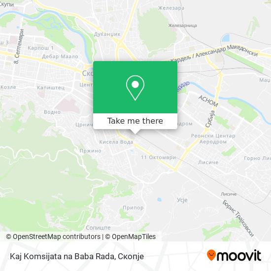 Kaj Komsijata na Baba Rada map