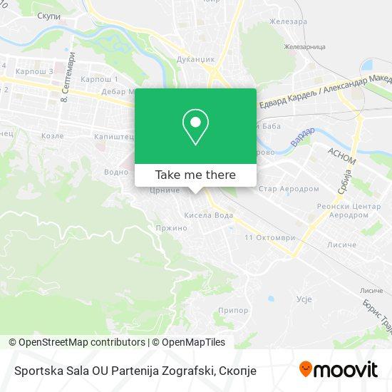 Sportska Sala OU Partenija Zografski map