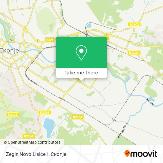 Zegin Novo Lisice1 map