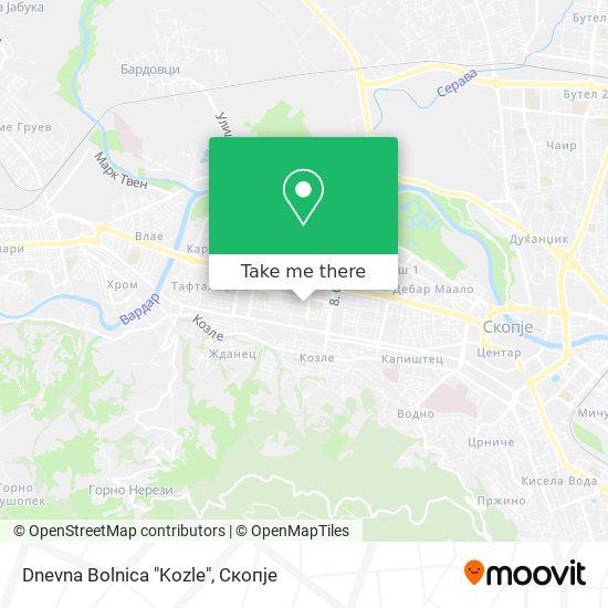 "Dnevna Bolnica ""Kozle"" map"