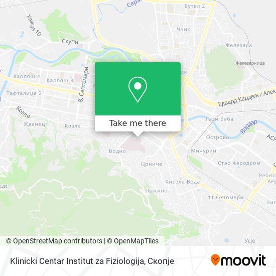 Klinicki Centar Institut za Fiziologija map