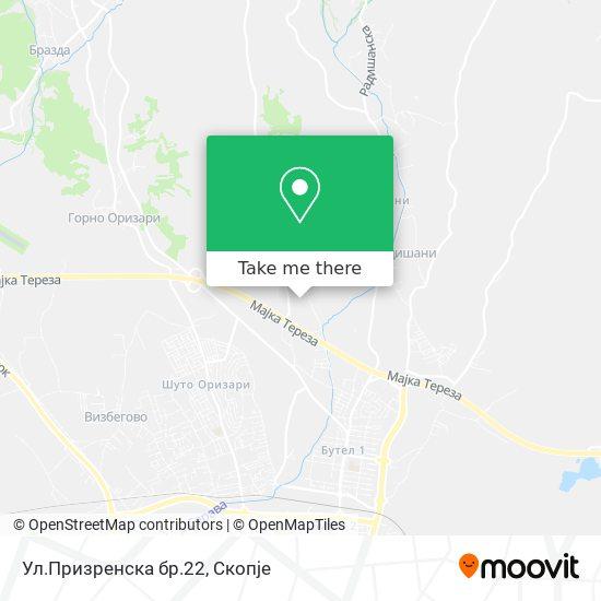 Ул.Призренска бр.22 map