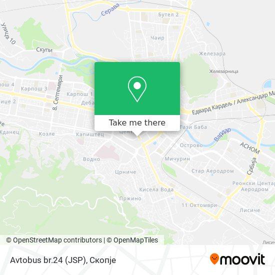 Avtobus br.24 (JSP) map