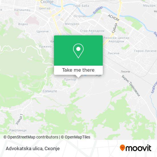 Advokatska ulica map