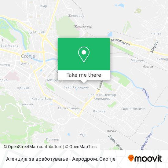 Агенција за вработување - Аеродром map