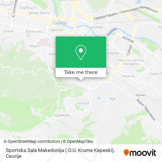 Sportska Sala Makedonija ( O.U. Krume Kepeski) map