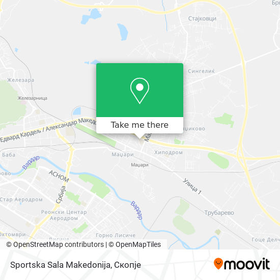 Sportska Sala Makedonija map