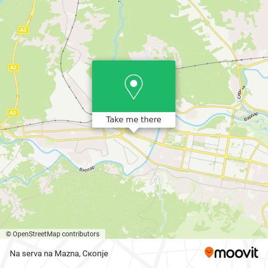 Na serva na Mazna map