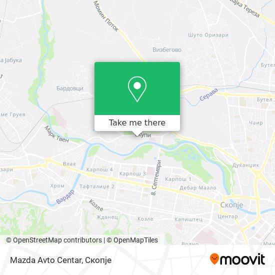 Mazda Avto Centar map