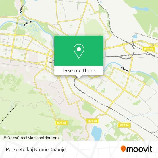 Parkceto kaj Krume map