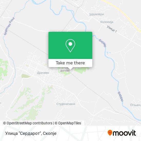 """Улица """"Сердарот"""" map"""