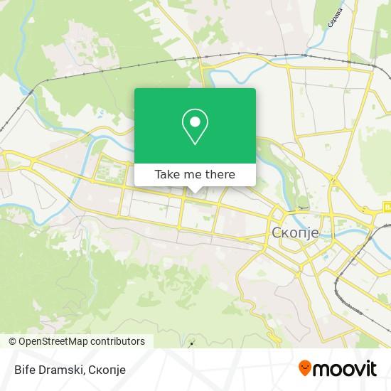 Bife Dramski map