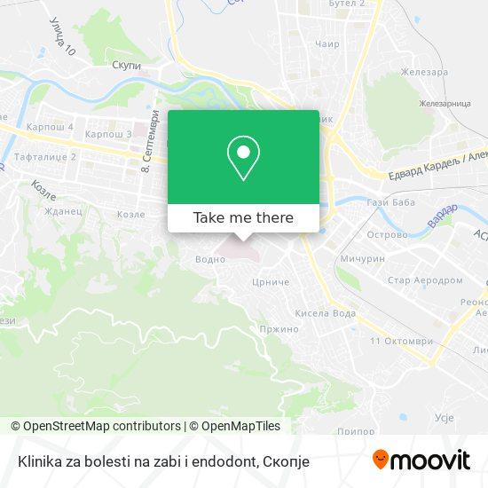 Klinika za bolesti na zabi i endodont map