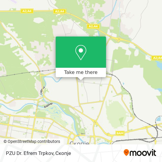 PZU Dr. Efrem Trpkov map