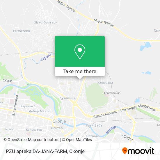 PZU apteka DA-JANA-FARM map