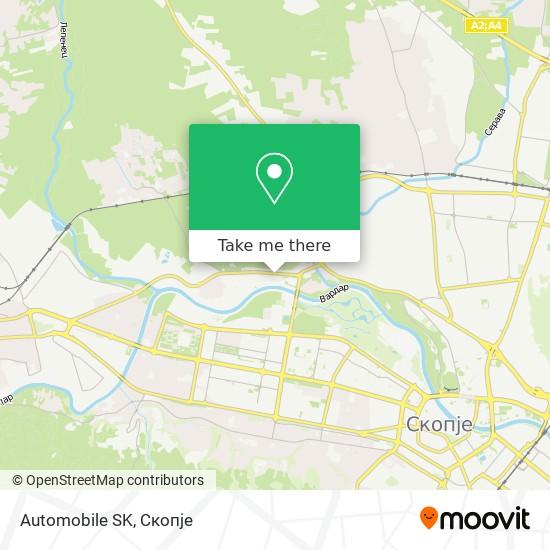 Automobile SK map