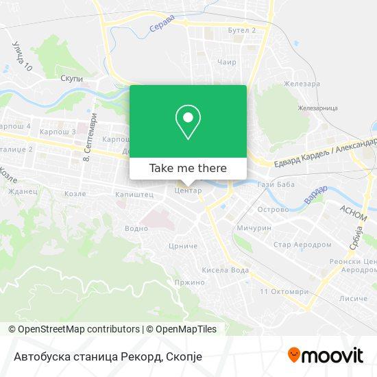 Автобуска станица Рекорд map
