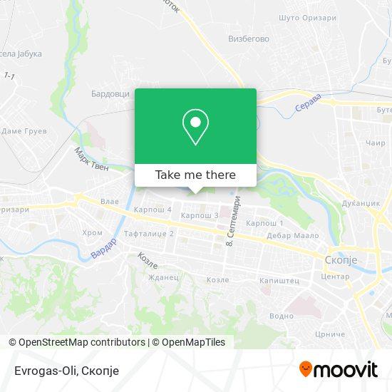 Evrogas-Oli map