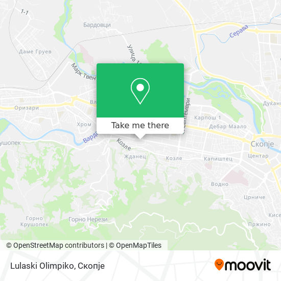 Lulaski Olimpiko map