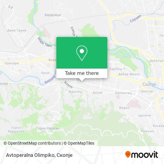 Avtoperalna Olimpiko map