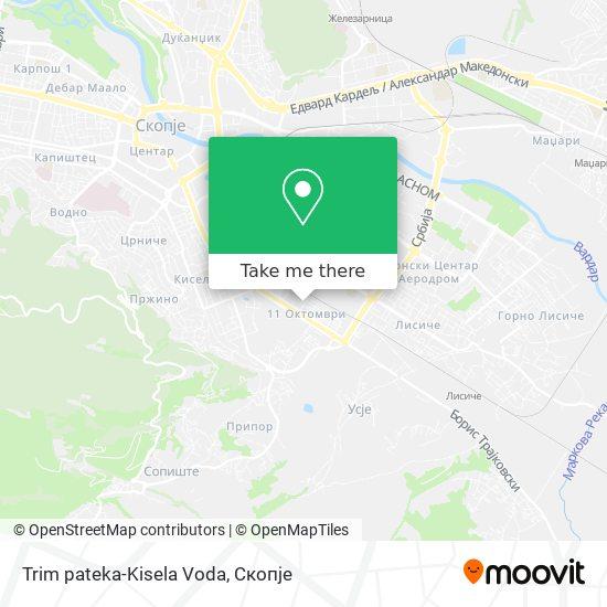 Trim pateka-Kisela Voda map