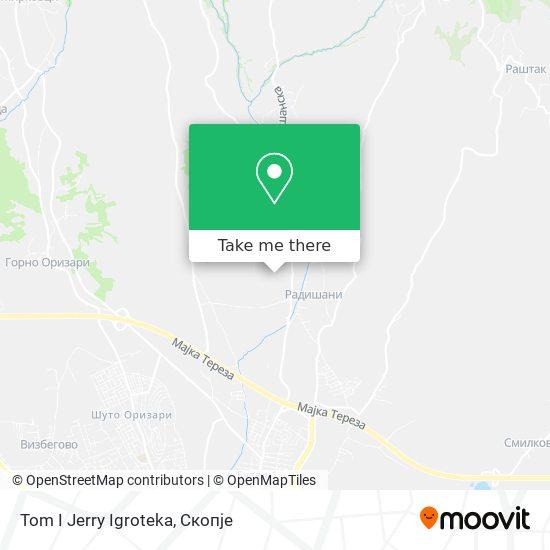 Tom I Jerry Igroteka map