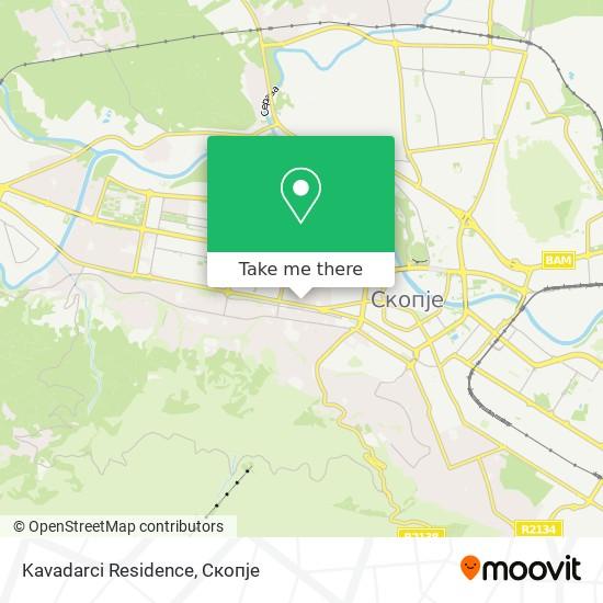 Kavadarci Residence map