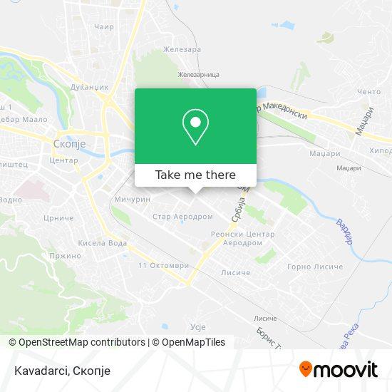 Kavadarci map