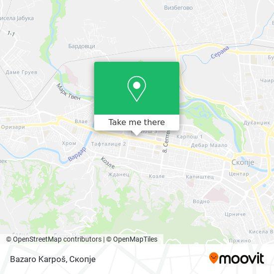 Bazaro Karpoš map
