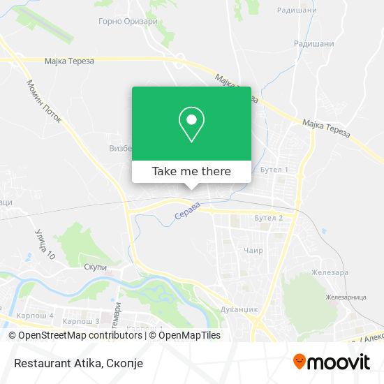 Restaurant Atika map