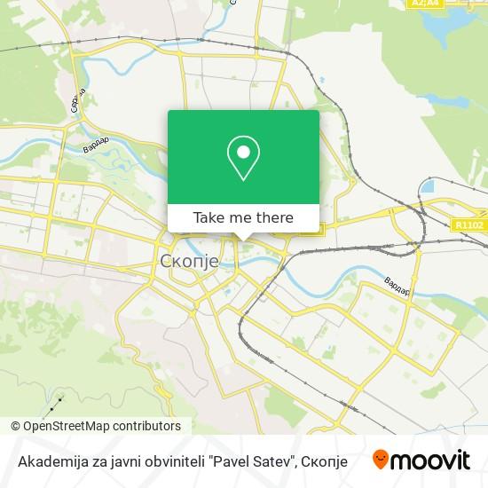 "Akademija za javni obviniteli ""Pavel Satev"" map"