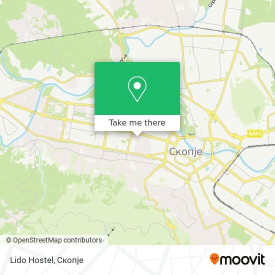 Lido Hostel map
