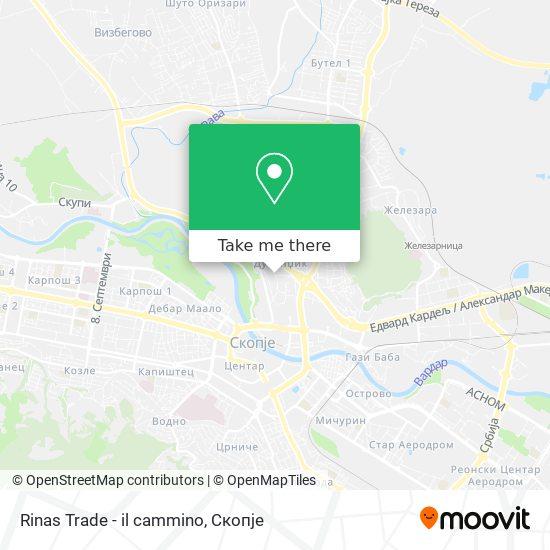 Rinas Trade - il cammino map