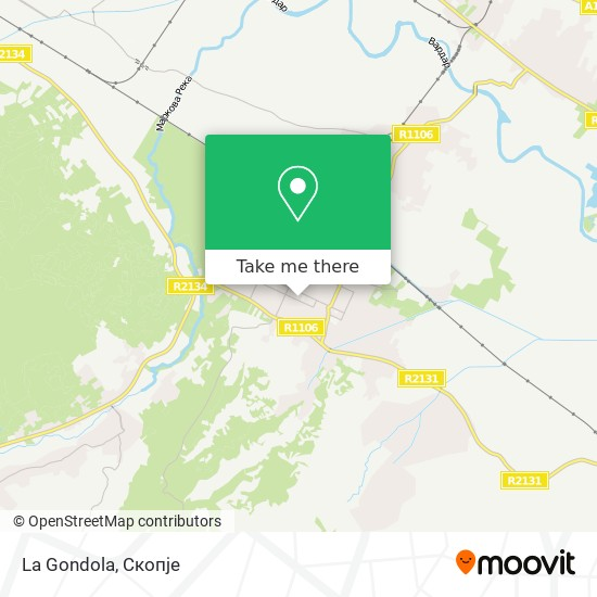 La Gondola map