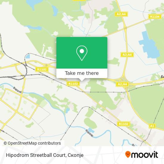 Hipodrom Streetball Court map