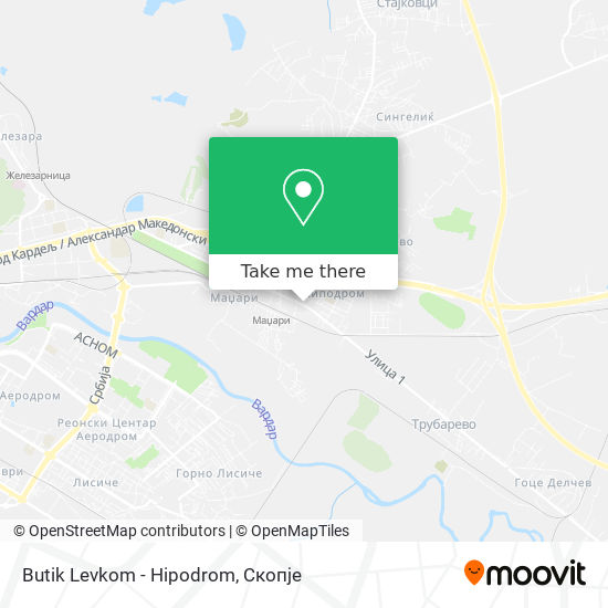 Butik Levkom - Hipodrom map
