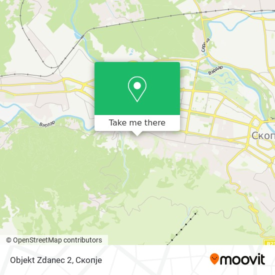 Objekt Zdanec 2 map