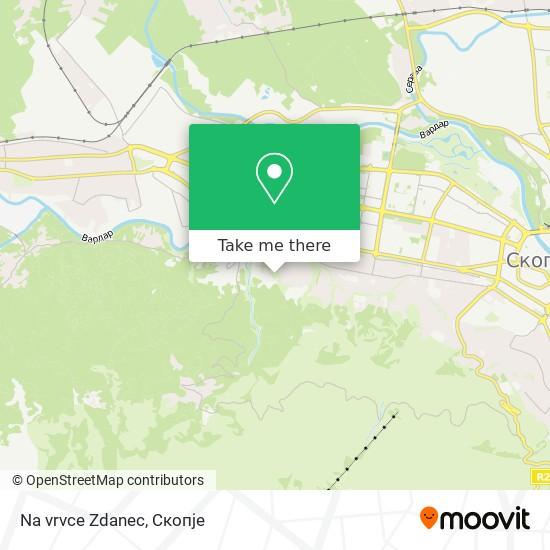 Na vrvce Zdanec map