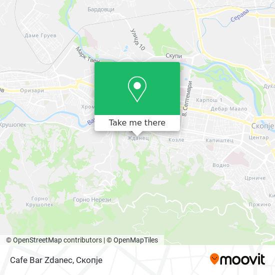 Cafe Bar Zdanec map