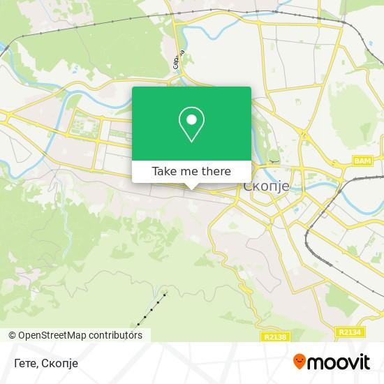 Гете map