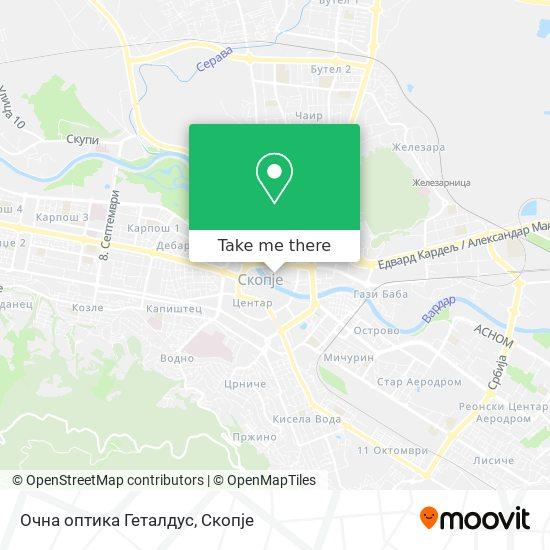 Очна оптика Геталдус map