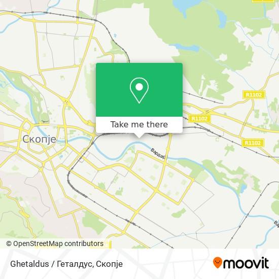 Ghetaldus / Геталдус map