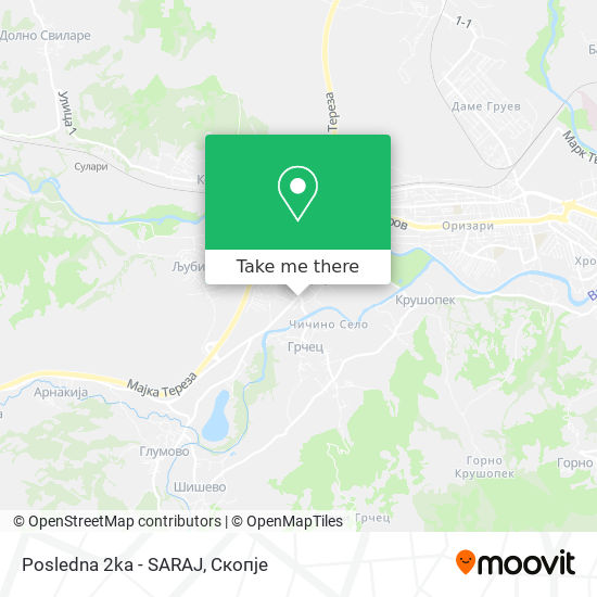 Posledna 2ka - SARAJ map