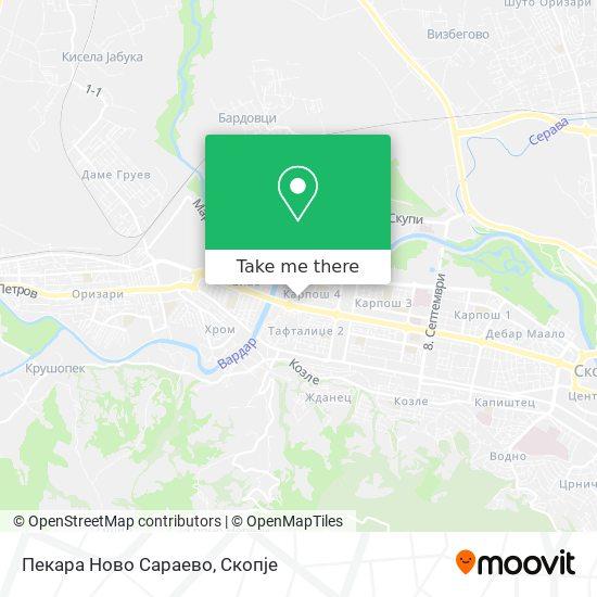 Пекара Ново Сараево map