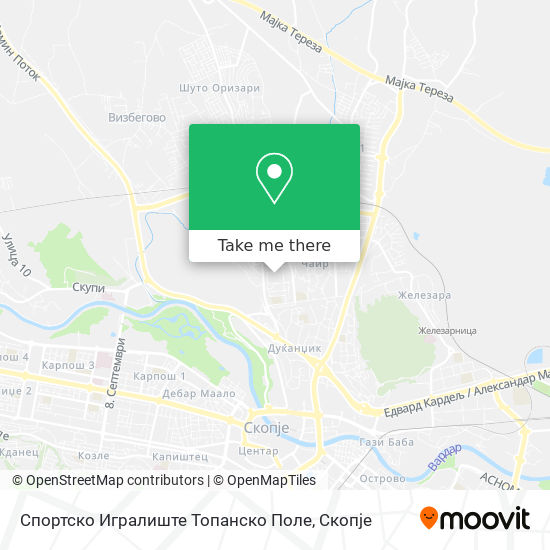 Спортско Игралиште Топанско Поле map