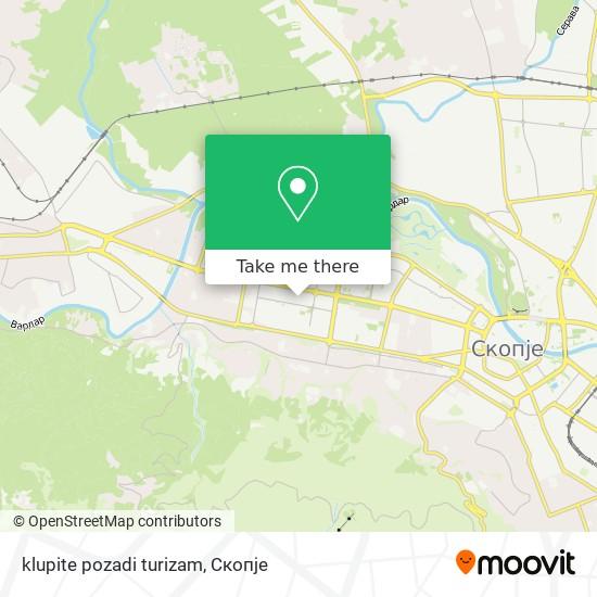 klupite pozadi turizam map