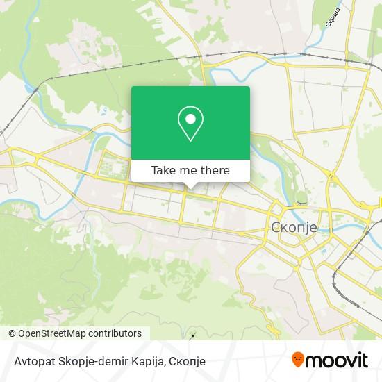 Avtopat Skopje-demir Kapija map