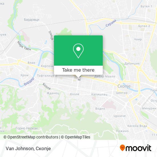 Van Johnson map