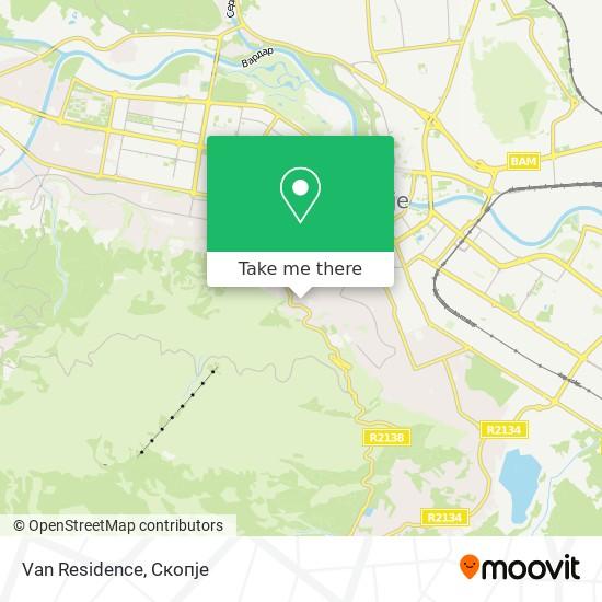 Van Residence map